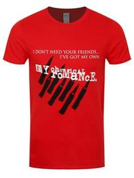 Rouge chimique en Ligne-My Chemical Romance T-shirt Friends T-shirt Classique Rouge Qualité Supérieure Homme
