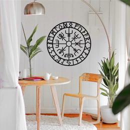 художественные символы Скидка Vegvisir, Viking Compass Metal Wall Art, Vegvisir Wall Art, Viking Символы защиты, металлический знак, Новоселье