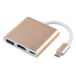 2019 apple macbook adaptateur hdmi USB 3.1 Type-C vers HDMI Adaptateur multiport numérique USB-C 4K femelle USB 3.0 HUB Chargeur USB-C OTG pour projecteur Apple Dell XPS MacBook Pro / Air apple macbook adaptateur hdmi pas cher