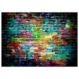 Fondo de fotografía de pared de ladrillo online-Telón de fondo Graffiti Brick Wall Art Telón de fondo Fotografía Fondo