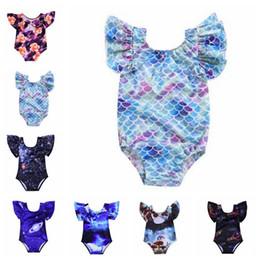 3d badebekleidung Rabatt Kinderbadebekleidung Meerjungfrau Mädchen Bikini Ins Einteilige Badespielanzug 3D Sterne Badeanzüge Tiergedruckt Badeanzüge Sommer Casual Beachwear B5567
