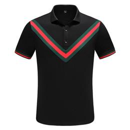 18ss дизайнер Мужские рубашки поло лето роскошные поло мужская рубашка свободный дышащий Письмо печати мода повседневный стиль Марка рубашка M-3XL от