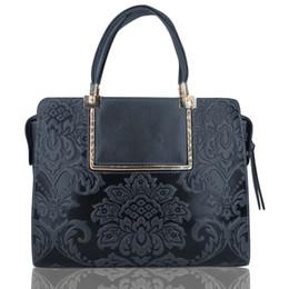 ethnischen stil handtasche großhandel Rabatt Italienisches Leder Custom logo Großhandelsdropshipping Art und Weise echte Leder Damenhandtasche der ethnische Art Tasche Frauen