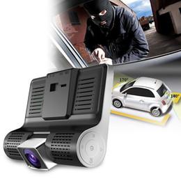 angle de vue lcd Promotion 4inch Night Vision Vue arrière Enregistreur Vidéo HD Grand Angle Véhicule LCD Dash Cam Voiture DVR Facile Installer Parking Moniteur Trois Lentilles