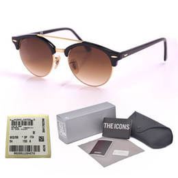 074cb3528b half eye glasses frames NZ - Top Quality Oval Plank Frame Glass Lens men  women Sunglasses