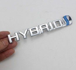 3d auto stickers Coupons - Car-styling Fashion Metal Car Sticker Emblem Refitting Badge Decal For Hybrid Toyota Camry Rav4 Reiz Lexus BMW Audi Honda Auto Styling