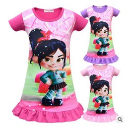 6dcd88eb30 Princess Dress Fashion Clothing Wreck-It Ralph2 Summer Sleeping Girls Abiti  Camicia da notte Camicia da notte Camicia da notte Pigiama Abbigliamento da  ...