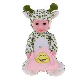Giocattolo verde dei cervi online-Adorable Music Peluche Baby Doll Toys Animali di peluche Doll Reborn Infant Baby Dolls Modello - Cervi verdi Giocattoli Regali di compleanno