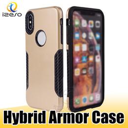 für zte pro Rabatt Hybrid Rüstung Rugged Telefon-Kasten für iPhone 11 Pro Ma XR X MOTO G7 Energie US E6 ZTE Sequoia Z799V Anti-Drop-Abdeckung Shell