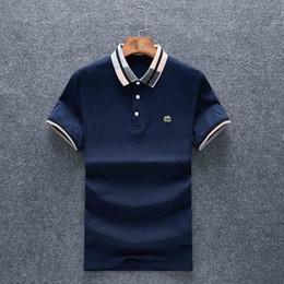 2019 camisetas pequeñas para hombres Nuevo 2019 Mens Designer Polos Marca caballo pequeño cocodrilo bordado ropa hombres tela letra polo camiseta cuello camiseta casual camiseta rebajas camisetas pequeñas para hombres