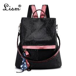 17ff59ba49d2 8 Фотографии Купить Онлайн Молодежные сумки-Рюкзак 2019 новый роскошный  пакет блесток высокого качества молодежная девушка студент