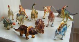 Simulação Animais Dinosaur Toy Set plástico Jogar Toys Dinosaur Jurassic Ação Modelo Figuras Presente do menino Crianças Home Decor 12pcs / set de