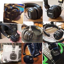 Cablaggio del microfono del pc online-Marshall Fashion Over Ear Cuffie Cuffie stereo pieghevoli Wired Mode Cuffie Microfono incorporato per tutti i PC portatili iPhone XR