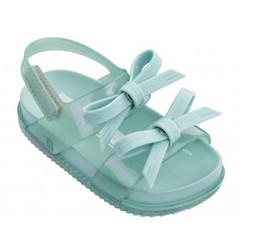Bowtie del neonato online-2019 New Summer Mini Shoes Toddler Girls Bowtie Sandali per bambini Jelly Shoes Girl antiscivolo Boy Soft Baby Sandali Sandali moda