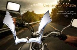 Spiegel für roller online-Universal SF-015 Motorrad Roller Rückspiegel Paar Aluminiumlegierung Twisted Flame Rückspiegel Motorrad Backup MirrorFree Shipping