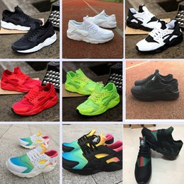 colorful tennis shoes Promo Codes - 2018 New Huarache Ultra Running Shoes Huraches For Mens Women Black White Red Colorful Huaraches Designer shoes Sneakers Athletic Trainers