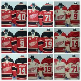19 Steve Yzerman Old Time Detroit Red wings Hockey 8 Justin Abdelkader 71 Dylan  Larkin 9 Howe Hoodie Jersey Sweatshirt Jerseys Stitched 7fa16589b
