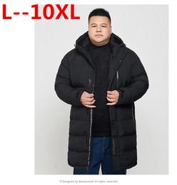 Plus 10XL 8XL 6XL 5XL Winter herren X Long Coat Exquisite Arm Tasche Männer Solide Parka Warme Manschetten Design Atmungsaktive Stoffjacke