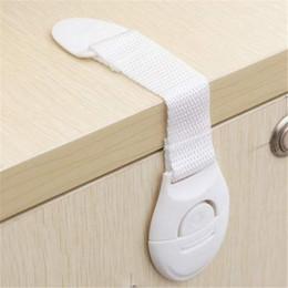 Kid plastiktoilette online-Großhandels-Schranktür Schubladen Kühlschrank Toilette verlängert Bendy Sicherheit Plastikschlösser für Kind Kind Baby Sicherheit