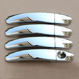 2019 autocollants abs de chrome Nouveau ABS Chrome poignée de porte de voiture garniture garniture Set 4 PCS Fit pour Ford Focus 2 MK2 II pour Focus 3 MK3 III 4 MK4 C-Max Kuga autocollant Escape autocollants abs de chrome pas cher