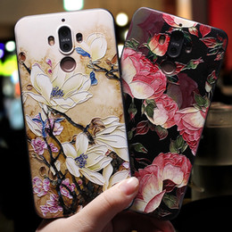 Huawei handys chinesisch online-Huawei Mat9 Handy Shell Mat10PRO / Maimang 6 Frauen Stil und Persönlichkeit der chinesischen Frauen Chao Xiaoqing Flower Line