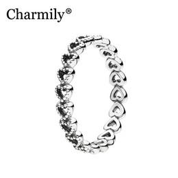 liebe links ring Rabatt Charmily Jewelry Genuine 100% 925 Sterling Silber Verbundene Liebe Ring Original Ringe Für Frauen