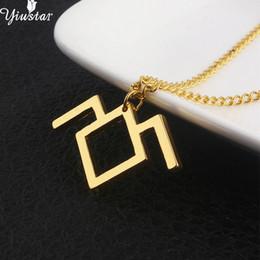 bezaubert zwillinge Rabatt Yiustar Neue Geometrische Twin Peaks Halskette Moutain Halsketten Frauen Charme Edelstahl Halskette Anhänger Goldschmuck