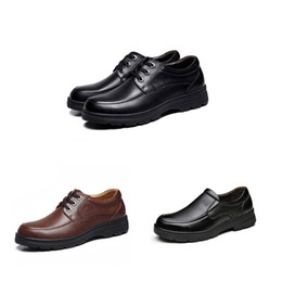 Business casual winter schuhe männer online-Breathe 2019 Top-Qualität Herren-Schuhe Herren Business Dress Up Lederschuhe Triple Black Winter Plus Velvet koreanischen Freizeitschuh