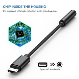 adaptateur casque usb Promotion Adaptateur d \ 'écouteur USB C à 3.5mm pour câble de diviseur audio pour casque Google Pixel 2 XL Type-C pour Huawei P20, LG, HTC U11, Samsung G