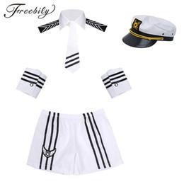 Costumes de Cosplay Sexy Hommes Marin Bleu Marine Costume Short avec Cap Col Cravate Poignets Seaman Uniforme Cosplay Fantaisie Dress up ? partir de fabricateur