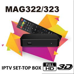 Internet hdmi tv box online-Ursprünglicher Digital-TV-Fernseher MAG 322 Set-Top-Box Multimedia-Player Internet IPTV-Empfänger unterstützen HEVC H.256 mit WiFi Lan HDMI TV Box