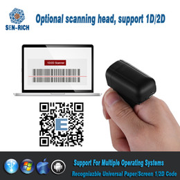 Mini Bluetooth Finger Ring 1D 2D Scanner Barcode Reader Android Win PDF417  DM QR Code 2D Wireless Scanner