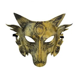 Canada Loup Animal Masque Festival Halloween Party Cosplay Costume Loups Balle Bar Décoration Adulte Masques Or Argent Offre