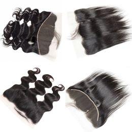 mongolian fechamento de seda de cabelo encaracolado profundo Desconto Parte superior livre de fechamento frontal de renda reta superior com cabelo de bebê. Cabelo virgem brasileiro de alta qualidade e 100%.