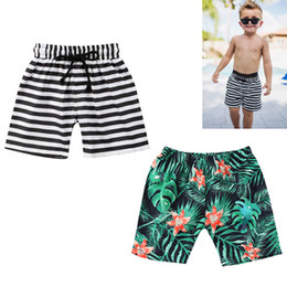 bebfb9c980 boys bathing suits kids Canada - Toddler Kids Baby Boy Floral Striped Shorts  Beach Pants Casual