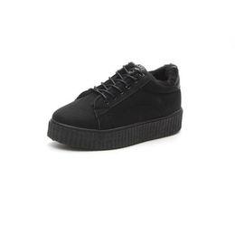 Scarpe di tela di velluto online-Scarpe di tela SMONSDLE femminile inverno 2019 nuovo più velluto caldo due scarpe di cotone studenti coreano casual selvaggio 999