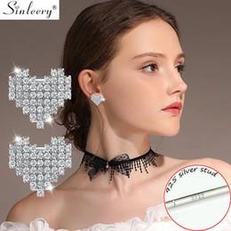 55f7edd5102a SINLEERY Romántico Tiny Crystal Heart Pendientes Joyería de Moda Para  Mujeres Niñas Stud Earrings 2019 Nuevo ES350 SSB