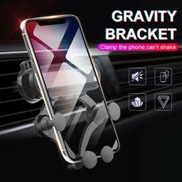 2019 варианты сотового телефона Универсальный гравитационный автомобильный кронштейн с воздушным вентиляционным креплением для GPS-навигатора Автомобильный держатель для мобильного телефона для iPhone Samsung