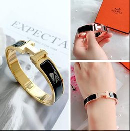 claw bar Coupons - New Jewelry Women Bracelets Stainless Steel Bangles Fashion H Letter Bracelets Gold Cuff Wide Bangle For Women Bridal Bracelet Gold