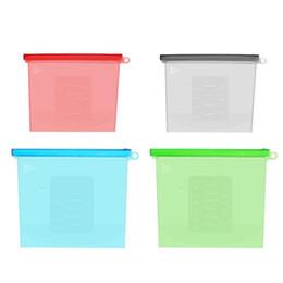 1000 ml Vacío de silicona Alimentos frescos Bolsas Envolturas Refrigerador Contenedores de almacenamiento de alimentos para calefacción, congelación, microondas Envío rápido de DHL desde fabricantes