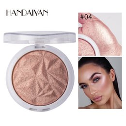 green light cosmetics Coupons - 1PC monochrome Highlighter Facial Bronzers Palette Makeup Glow Face Contour Shimmer Highlight Cosmetics
