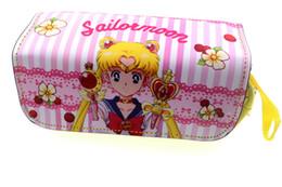 Lua de marinheiro de desenhos animados de anime on-line-Anime Coco / Sailor Moon / Caneta Lápis Sacos Zipper Purse Casos Cosméticos Dos Desenhos Animados Mulheres Saco de Maquiagem Moda Bolsas de Presente
