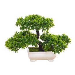 Árboles artificiales de flores bonsai online-Bonsai artificial plantas de simulación de árboles para el hogar y la oficina decoración de interiores plantas verdes adornos emular decorati