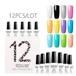 Canada Gel Nail Set polonais 12pcs / lot 10ml LED Lampe UV Nail Art Nails Semi Permanent de Polonais Ensembles 070307 Offre