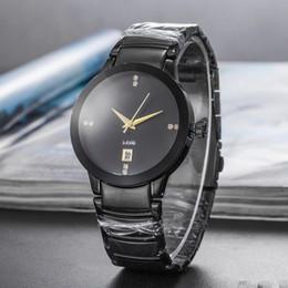Homens de negócios de luxo assistir RD todo o aço inoxidável grand dialmond dial relógios de quartzo automático DIASTAR relogio navimiter montre pulso de Fornecedores de relógios de luxo réplicas