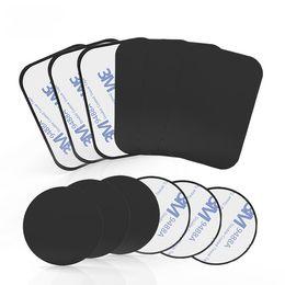 Coche de montaje adhesivo online-Univerola Mount Metal Plate con adhesivo para soporte magnético Soporte de coche de reemplazo Kit de placa de metal Imán Soporte para teléfono móvil