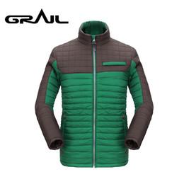 2019 baumwollgefüllter mantel GRAIL Herren Thermowandersportjacke von Male Outdoor Skijacke Poly-Filled Cotton Padding Coat Parkas 6019A günstig baumwollgefüllter mantel