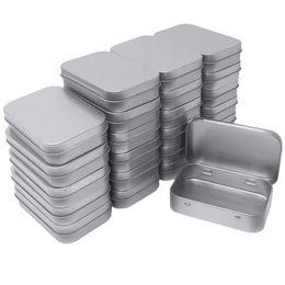 2019 piccoli contenitori per Kit 24 metallica rettangolare Vuoto incernierato barattoli Box Contenitori Mini portatile Box Small bagagli, Home Organizer, 3,75 per 2,45 per piccoli contenitori per economici