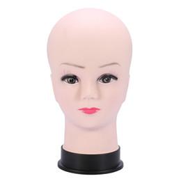 PVC Modèle de tête Femme Mannequin perruque Faire affichage chapeau avec base Cils Makup pratique Traning Manikin Bald Head Modèle ? partir de fabricateur