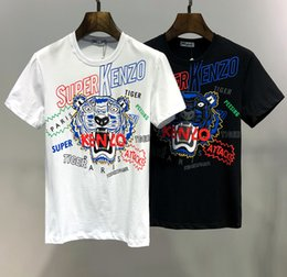 gli uomini della camicia dello squalo Sconti Hot Paris fashion KENZ Brand T-shirt da uomo 002 Tiger Head Luxury designer Estate a maniche corte 3D Stampa tees Medusa Shark Skull PP D2 Top
